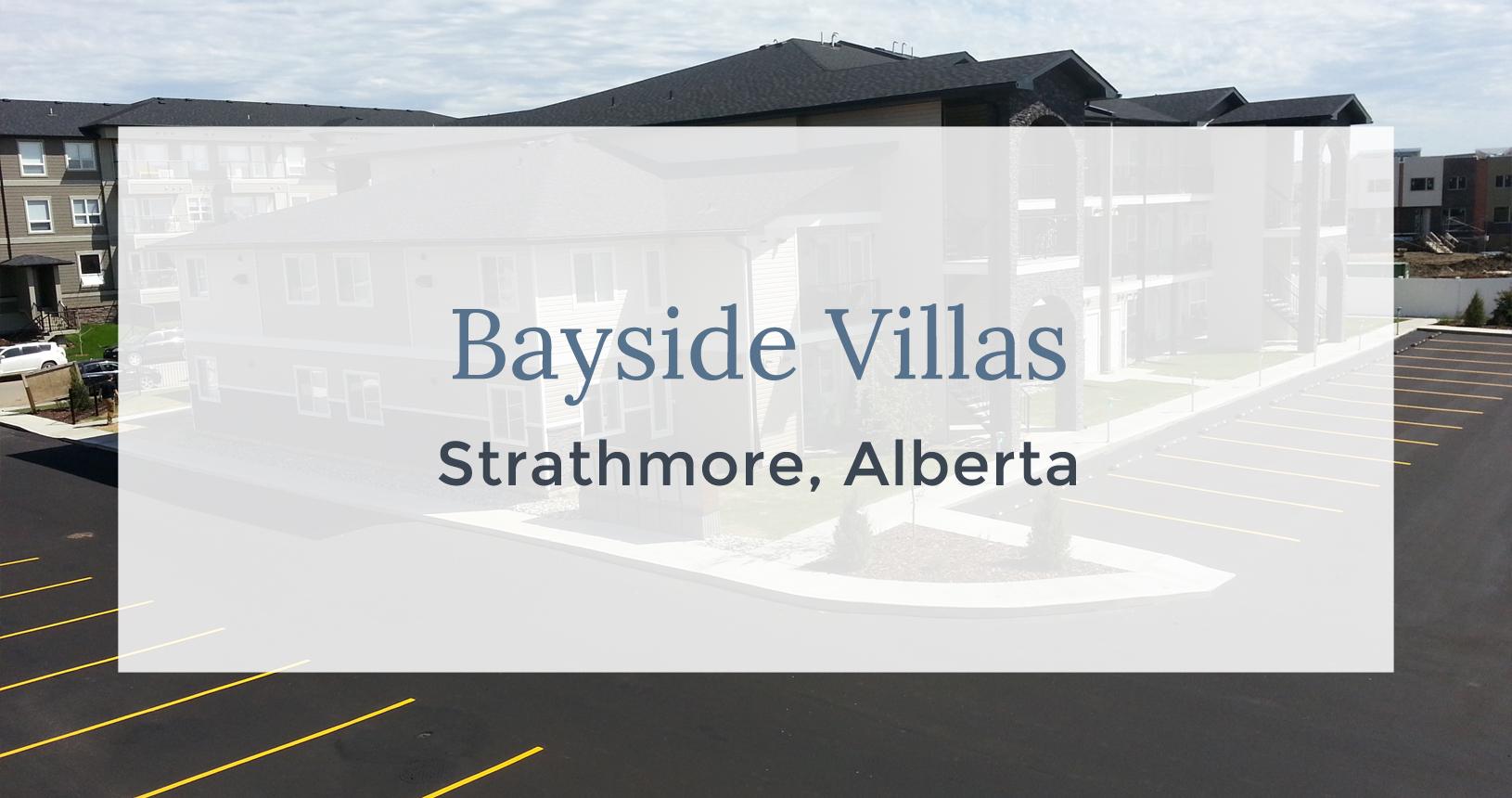 Bayside Villas: Strathmore, Alberta