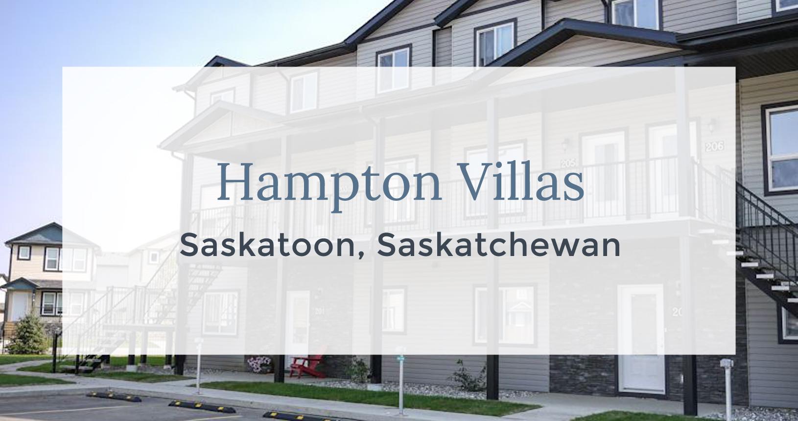 Hampton Villas: Saskatoon, Saskatchewan